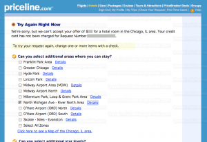 "Priceline's ""name your own price for hotels"" bid declined"